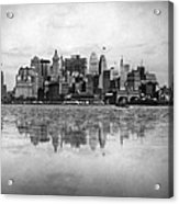 New York Skyline Reflected Acrylic Print