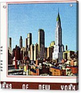 New York: Skyscrapers Acrylic Print