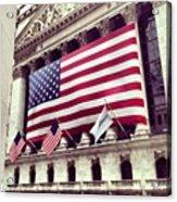 New York Stock Exchange/wall Street Acrylic Print