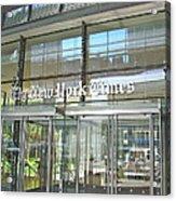 New York Times Reflection Acrylic Print