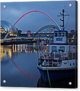 Newcastle Quayside At Night Acrylic Print