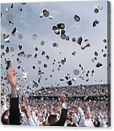 Newly Commissioned Officers Toss Acrylic Print