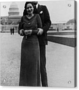 Newlywed Lyndon And Lady Bird Johnson Acrylic Print by Everett
