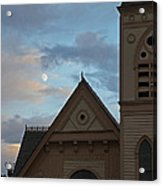 Newman United Methodist And Moon Acrylic Print