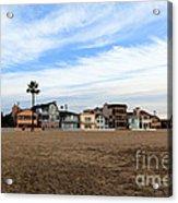 Newport Beach Oceanfront Houses Acrylic Print
