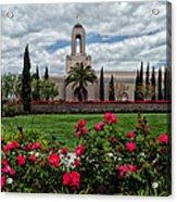 Newport Beach Temple Roses Acrylic Print