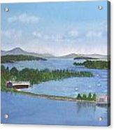 Newport Vermont Aerial Acrylic Print