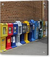 Newspaper Boxes Acrylic Print