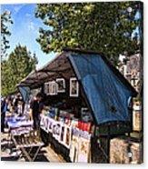 Newstand Along The Seine Acrylic Print