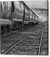 Next Tracks In Black And White Acrylic Print