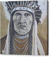 Nez Perce American Native Indian Acrylic Print by David Hawkes