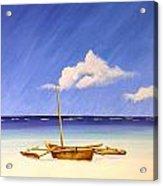 Ngalawa And Cloud Acrylic Print