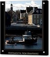 Nh Working Harbor Acrylic Print by Jim McDonald Photography