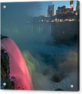 Niagara At Night Acrylic Print