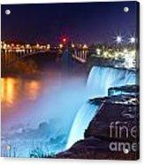 Niagara Falls At Night 2 Acrylic Print