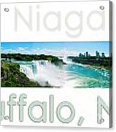 Niagara Falls Day Panorama Acrylic Print