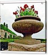 Niagara Falls Floral Urn Acrylic Print