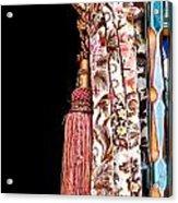 Nice Curtain Acrylic Print by Tom Gowanlock