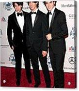 Nick Jonas, Joe Jonas, Kevin Jonas Acrylic Print by Everett