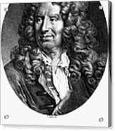 Nicolas Boileau (1636-1711). French Critic And Poet. Lithograph, French, 19th Century Acrylic Print
