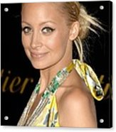 Nicole Richie Wearing A Dries Van Noten Acrylic Print by Everett