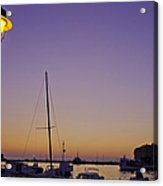 Night Falls Over Rovinj Acrylic Print