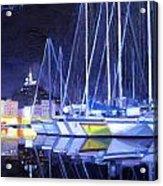 Night Harbor Acrylic Print
