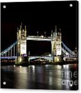Night Image Of The River Thames And Tower Bridge Acrylic Print