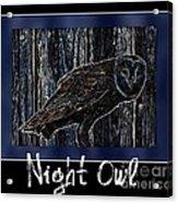 Night Owl Poster - Digital Art Acrylic Print