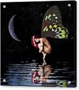 Night Reflection Acrylic Print by Diana Shively