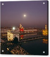 Night View Of Amritsar Acrylic Print