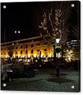 Night View Of St Katherines Dock London Acrylic Print
