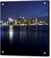 Nighttime Boston Skyline Acrylic Print