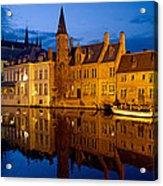 Nighttime Brugge Acrylic Print