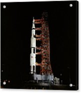 Nighttime View Of The Apollo 13 Space Acrylic Print