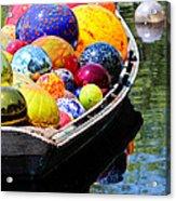 Niijima Floats Acrylic Print by Elizabeth Hart