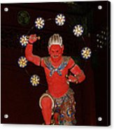 Nikko Red Figure Acrylic Print