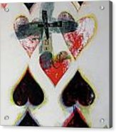 Nine Of Hearts 21-52 Acrylic Print