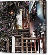 Nine Steps Mykonos Greece Acrylic Print