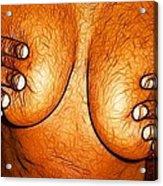 Nipple Squeeze Acrylic Print