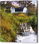 Nisqually Wildlife Refuge P21 The Twin Barns Acrylic Print
