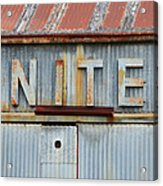 Nite Rusty Metal Sign Acrylic Print
