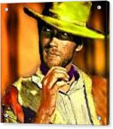 Nixo Clint Eastwood Acrylic Print by Nicholas Nixo