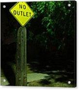 No Way Out Acrylic Print