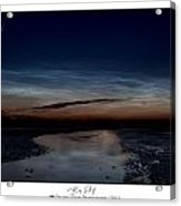 Noctilucent Clouds And Shooting Star Acrylic Print