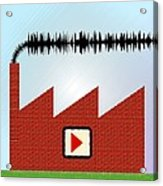 Noise Pollution, Conceptual Image Acrylic Print