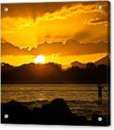 Noosa Sunset Paddle Board 1 Acrylic Print