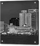 Norfolk Waterfront Bw Acrylic Print