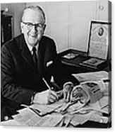 Norman Vincent Peale Was An American Acrylic Print by Everett