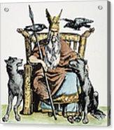 Norse God Odin (woden) Acrylic Print